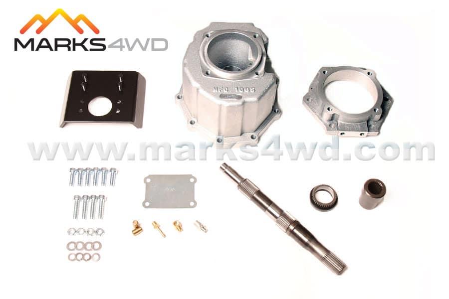 4L60E 6 bolt to 5-speed chain drive transfer case