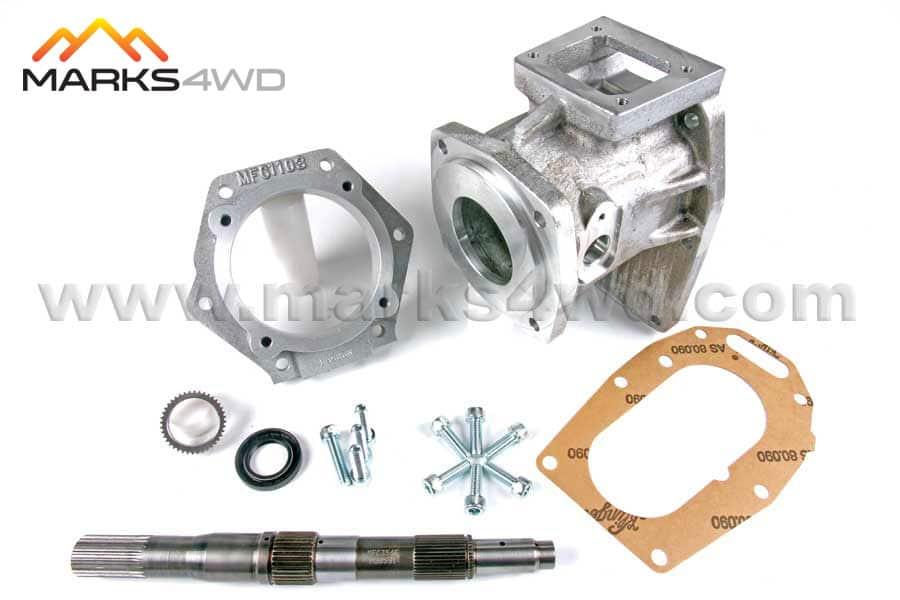 4L60E 6 bolt to Hilux & 4Runner 5-speed gear driven transfer case