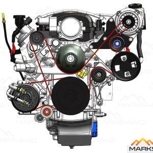 Alternator Relocation Kit - LS2 & LS3 engines