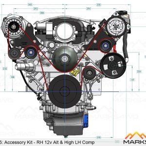 MFK50145 - LS2 Alternator and A/C relocation