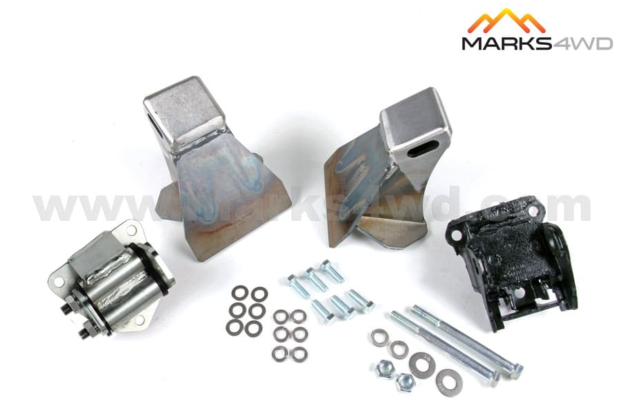 Engine mount kit to suit Chev V8 (using one rubber mount and one heavy duty mount) – MFK625CD