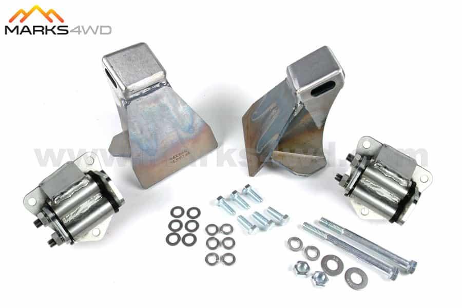 Engine mount kit to suit Chev V8 (using heavy duty mounts) - MFK625CHD