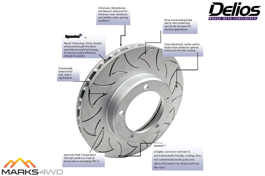 Delios Slotted Disc Rotors