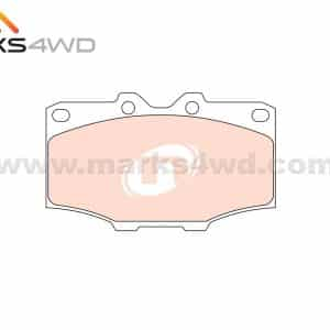 Toyota Front Disc Pads Diagram