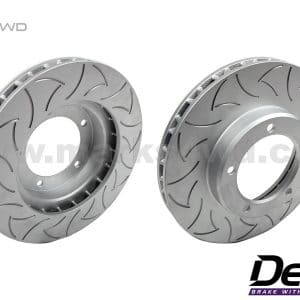 Delios Slotted Front Disc Rotors to Suit Toyota Hilux with Drum brakes - DLSD008