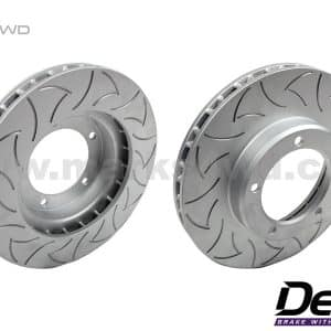 Delios Slotted Front Disc Rotors to Suit Toyota LandCruiser 100 Series - DLS0788