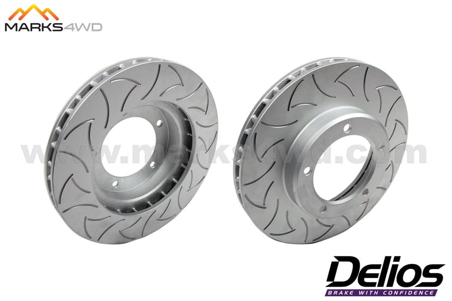 Delios Slotted Front Disc Rotors to Suit Toyota LandCruiser 100 Series - DLS789