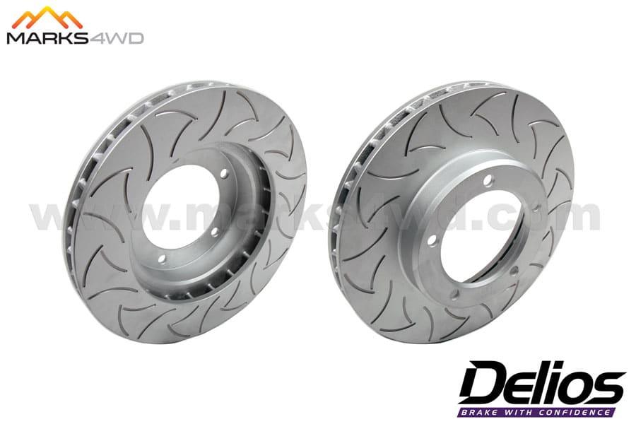 Hilux - Delios Slotted Front Disc Rotors - DLS780