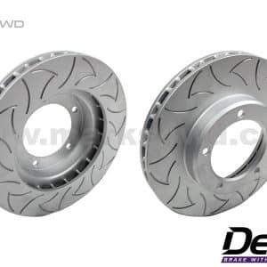 Delios Slotted Rear Disc Rotors to suit Nissan Patrol GU - DLS0699