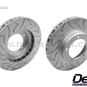 Delios Slotted Front Disc Rotors to suit Nissan Patrol GU - DLS0625